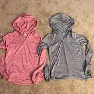 Girls Long Sleeved Athletic Tops Hooded Size 10-12